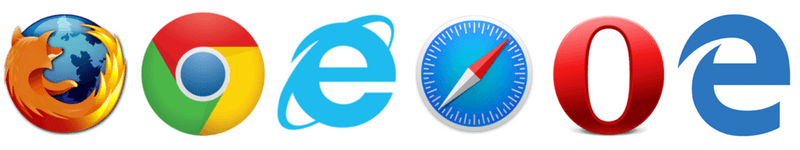 eb-browsers-Mozilla Firefox- Google Chrome- Microsoft Internet explorer-Apple Safari-Opera-Microsoft Edge