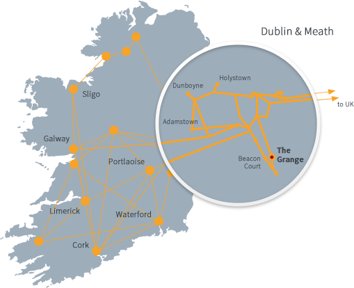 map of Magnet fibre in Ireland