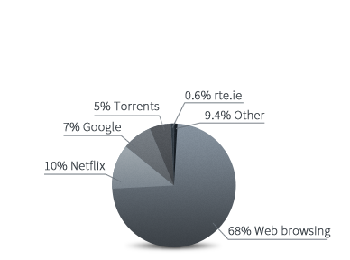connection usage pie chart