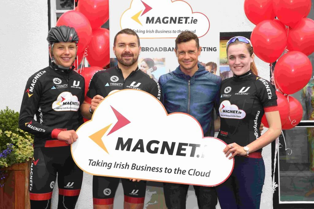 Nicolas Roche launching the Magnet Junior Cyclist of the Year Award with Mark Kellet, Jenny Neenan and Patrick Goszczyk.